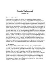 Vem är Muhammed | Religion | B i betyg
