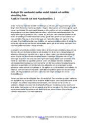 Redogör för sambandet mellan social, teknisk och militär utveckling 2