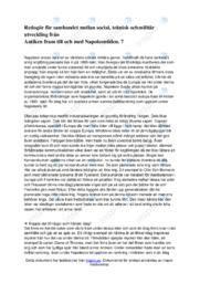 Redogör för sambandet mellan social, teknisk och militär utveckling 7