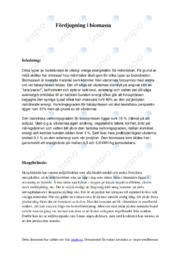Fördjupning i biomassa | A i betyg | Biologi