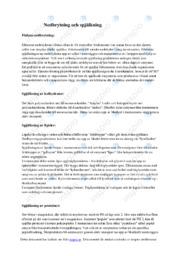 Nedbrytning och spjälkning | B i betyg