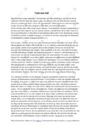 Västroms fall | Historia | A i betyg