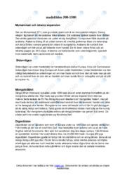 Historia | Medeltiden 500-1500 | C i betyg