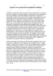 Etnicitet och socioekonomiska förhållande buddhism