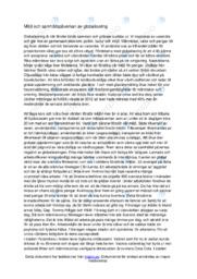 Miljoöoch samhällspåverkan av globalisering | C i betyg
