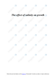 The effect of salinity on growth | A i betyg