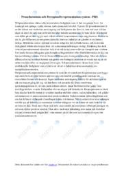 Procedurminne och Perceptuellt representation system | PRS | B i betyg