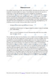 Minnesprocesser | C i betyg