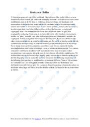 Koder och Chiffer | Matte | C i betyg