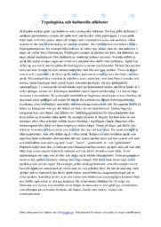 Typologiska och kulturella olikheter | B i betyg