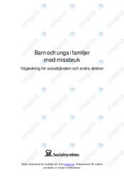 Barn och unga i familjer med missbruk | Samhällskunskap