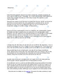 Slanguttryck | Svenska uppgift | C i betyg