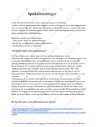 Språkförändringar | Svenska som andraspråk | B i betyg