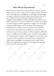 Vilken effekt har bakgrundsmusik | Biologi uppgift | C i betyg