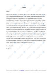 Business Letter | Engelsk uppgift | A i betyg