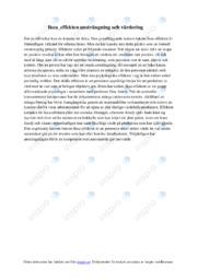 Ikea effekten ansträngning och värdering | C i betyg