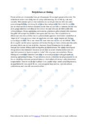 Betydelsen av timing | Sociologi uppgift | A i betyg