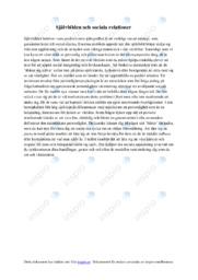 Självbilden och sociala relationer | Sociologi | B i betyg