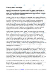 Utanförskap i migration | Samhällskunskap | B i betyg