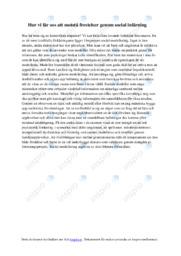 Frestelser genom social inlärning | A i betyg
