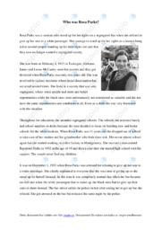 Who was Rosa Parks | Engelska | C i betyg