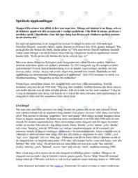 Språkets uppkomlingar | Svenska som andraspråk