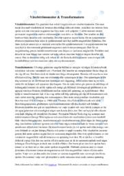 Växelströmsmotor & Transformatorn
