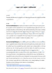Lagar och regler i näthandel | Juridik | A i betyg