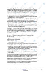 Anpassningar för elever med funktionsnedsättning | Uppgift