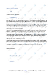 Cellens viktigaste transporter | Labrationsrapport | A i betyg